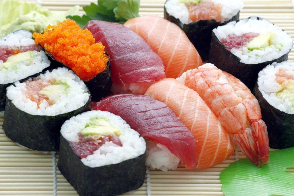 sushi, japanese, asian